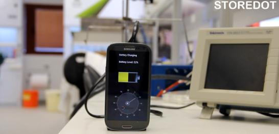 StoreDot Flash-Battery Demo - YouTube
